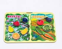 Обучающий набор WOODLANDTOYS 117203 Фрукты-овощи