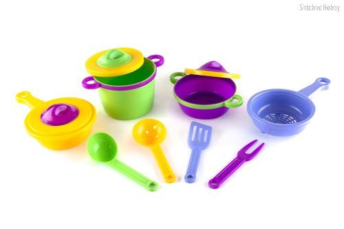 Набор детской посуды Эксперт - Пластмастер