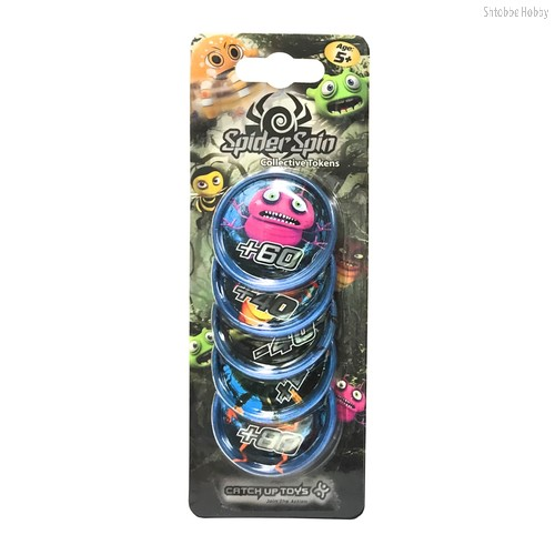 Жетоны CATCHUP TOYS SS-002T-BLU Spider Spin. Collective Tokens (Blue) - Catchup Toys