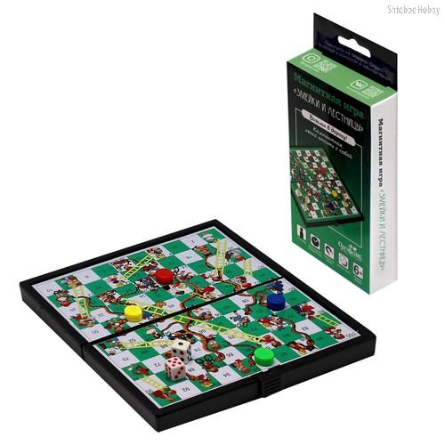 Настольная игра ORIGAMI 5319 Змейки и лестницы (магнитная) - Origami