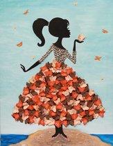 Мозаика из пайеток ВОЛШЕБНАЯ МАСТЕРСКАЯ МХ-22 Девочка с бабочками - Волшебная Мастерская