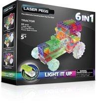 Светодиодный конструктор Трактор 6 в 1 - Laser Pegs