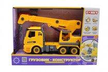 Машина пластиковая FUNKY TOYS FT61110 Грузовик-конструктор с подъемным краном 1:12 - Funky Toys
