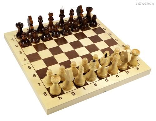 Настольная игра ДЕСЯТОЕ КОРОЛЕВСТВО 2845 Шахматы деревянные (29см х 29см) - Десятое королевство