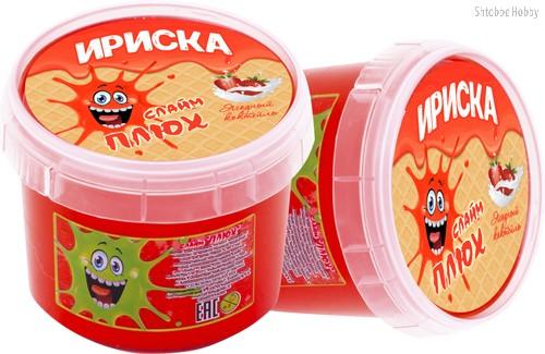 Слайм ПЛЮХ 2124 Ириска ягодный коктейль, 100 г - Плюх