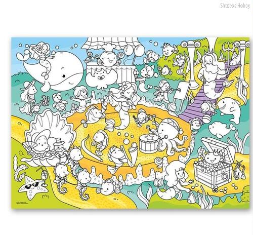 Раскраска-плакат ГЕОДОМ 5747 В океане, для малышей - Геодом