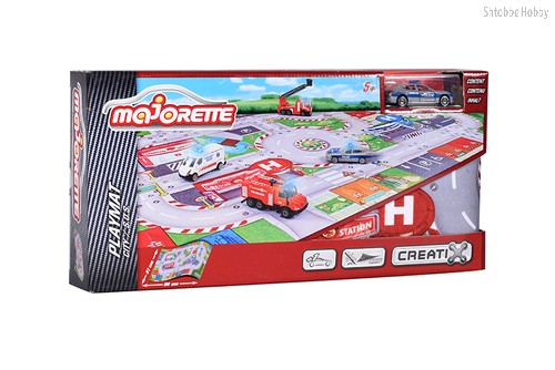 Игровой набор MAJORETTE 2056411 Коврик Creatix SOS, 1 машинка - MAJORETTE