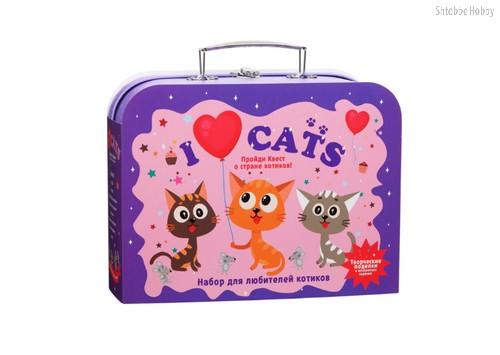 Набор для творчества ПОДАРОК В ЧЕМОДАНЕ TR-114 Я люблю котиков - Подарок в чемодане
