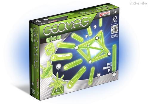 Магнитный конструктор GEOMAG 335 Glow 30 деталей - Geomag