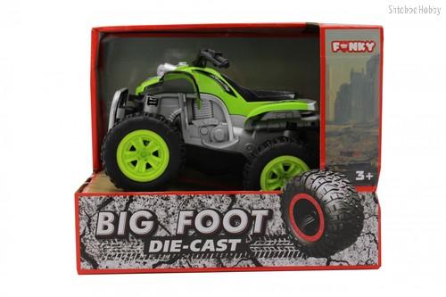 Машина пластиковая FUNKY TOYS FT61064 Квадроцикл die-cast, инерционный, зеленый, 1:24 - Funky Toys