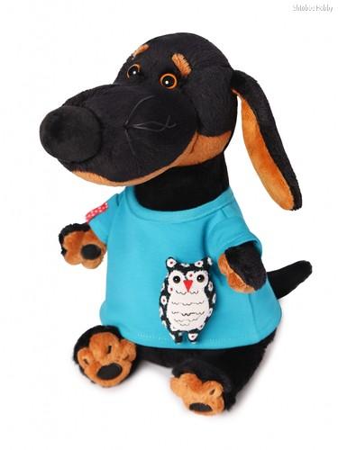 Мягкая игрушка BUDI BASA Vaks29-011 Ваксон в футболке с совой - Буди Баса