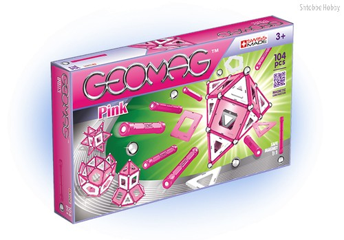 Магнитный конструктор GEOMAG 344 Pink 104 детали - Geomag
