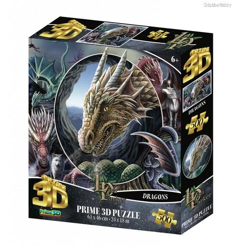 Стерео пазл PRIME 3D 32563 Коллаж Драконы - Prime 3d