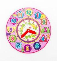 Обучающий набор WOODLANDTOYS 094204 Часы, розовые - WOODLAND