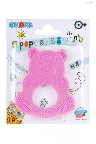 Прорезыватель KNOPA 80071 Мишутка, розовый - Knopa