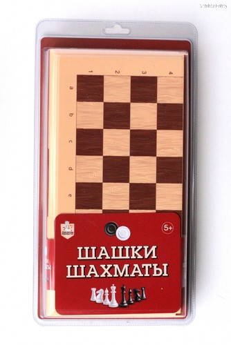Настольная игра ДЕСЯТОЕ КОРОЛЕВСТВО 3888 Шашки-Шахматы (беж) - Десятое королевство