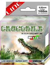 Леска SWD Crocodile 100м 0,18 (3,30кг) прозрачная - Siweida