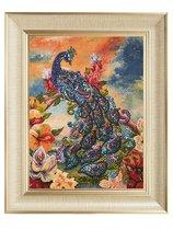 Мозаика из пайеток ВОЛШЕБНАЯ МАСТЕРСКАЯ МХ-09 Павлин - Волшебная Мастерская