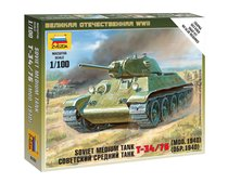 Сборная модель ZVEZDA 6101 Советский средний танк Т-34/76 - Zvezda