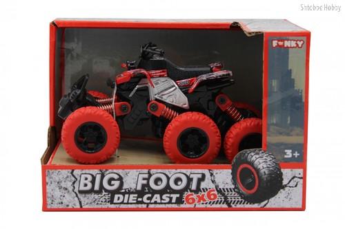Машина пластиковая FUNKY TOYS FT61067 Квадроцикл die-cast, инерционный, красный, 6*6 - Funky Toys