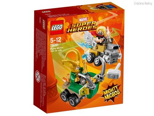 Конструктор LEGO 76091 Super Heroes Mighty Micros: Тор против Локи - Lego