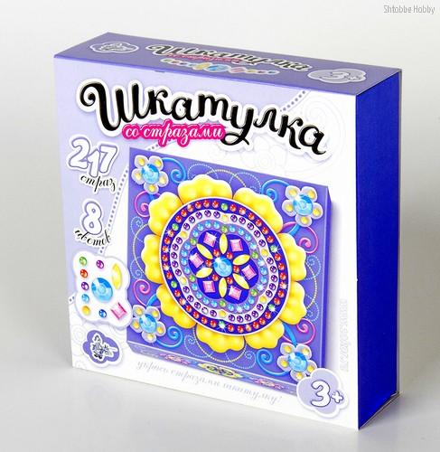 Набор для творчества ДЕСЯТОЕ КОРОЛЕВСТВО 01743 Шкатулка Цветок - Десятое королевство