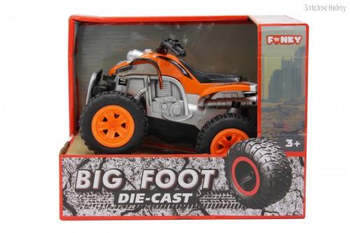 Машина пластиковая FUNKY TOYS FT61063 Квадроцикл die-cast, инерционный, оранжевый, 1:24 - Funky Toys