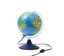 Глобус GLOBEN INT12100296 интерактивный зоогеографический детский с подсветкой 210мм с очками VR - Globen