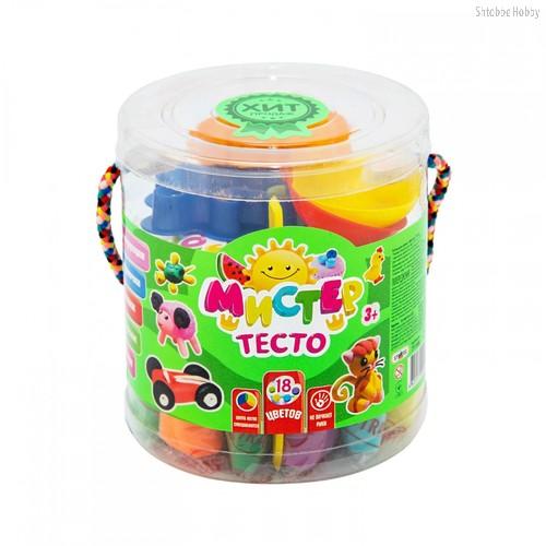 Масса для лепки STRATEG 71108 мистер тесто 18 цветов - Strateg