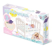 Набор кукольной мебели ДЕСЯТОЕ КОРОЛЕВСТВО 02716 Кроватка большая