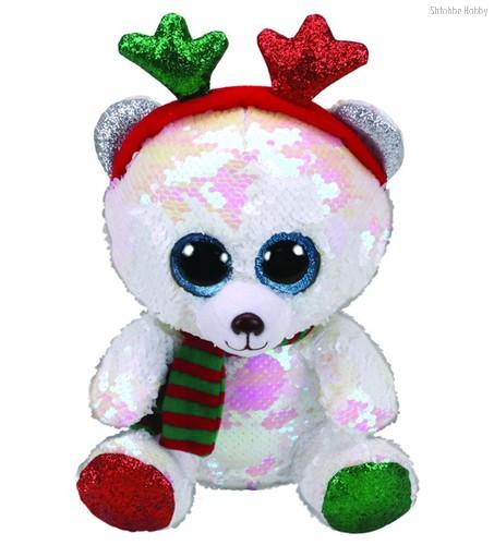 Мягкая игрушка TY 36337 медведь Мистлтоу с пайетками 15 см - TY