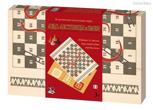 Настольная игра ДЕСЯТОЕ КОРОЛЕВСТВО 2934 Лудо, Лестницы и Змеи - Десятое королевство