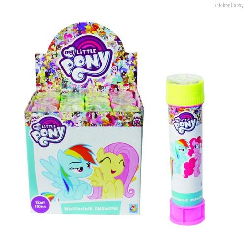 Мыльные пузыри 1TOY Т59671 My Little Pony 110 мл бутылка - 1Toy
