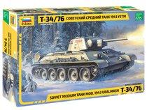 """Сборная модель ZVEZDA 3689 Советский средний танк """"Т-34/76""""43г. - Zvezda"""