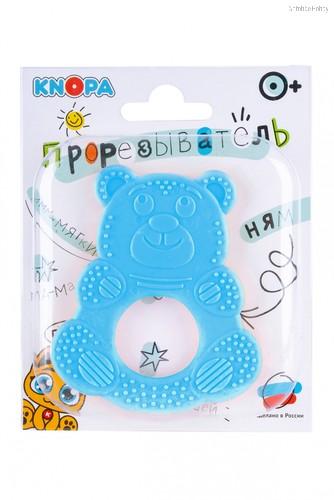 Прорезыватель KNOPA 80072 Мишутка, голубой - Knopa