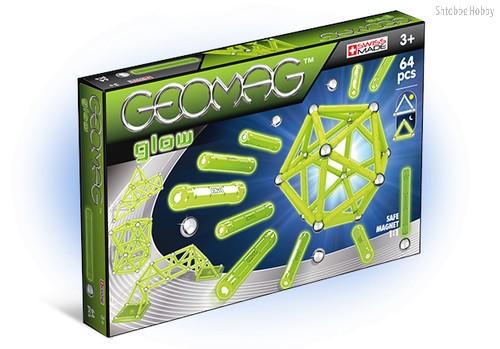 Магнитный конструктор GEOMAG 336 Glow 64 детали - Geomag