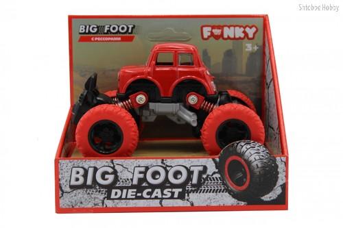 Машина пластиковая FUNKY TOYS FT61073 die-cast, инерционная, красная, 1:46 - Funky Toys