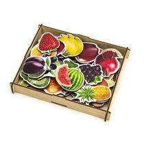 Набор WOODLANDTOYS 111401 Овощи, фрукты, ягоды (дер.коробка) - WOODLAND