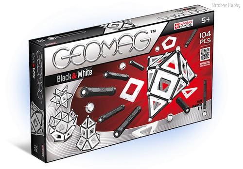 Магнитный конструктор GEOMAG 013 Black and White 104 детали - Geomag