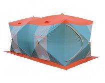 Палатка рыбака Нельма Куб-4 Люкс Профи (двухслойная, серебрянка) - Митек