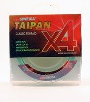 Леска плетеная Siweida Taipan Classic PE Braid X4 135м 0,26мм (15,90кг) светло-зеленая - Siweida