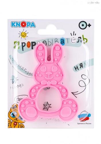 Прорезыватель KNOPA 80076 Зайка, розовый - Knopa