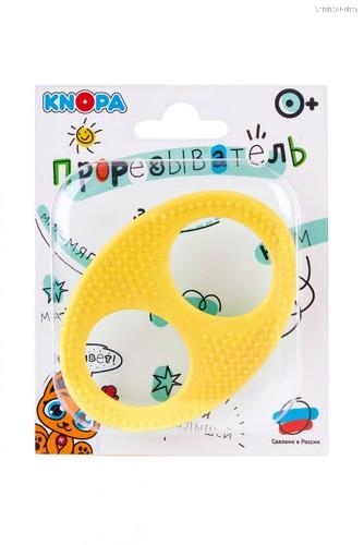 Прорезыватель KNOPA 80083 Бесконечность, желтая - Knopa