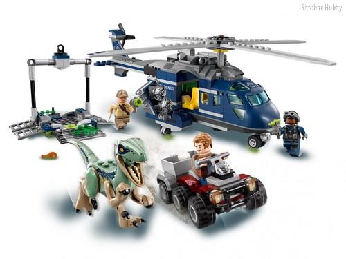 Конструктор Jurassic World Погоня за Блю на вертолёте - Lego