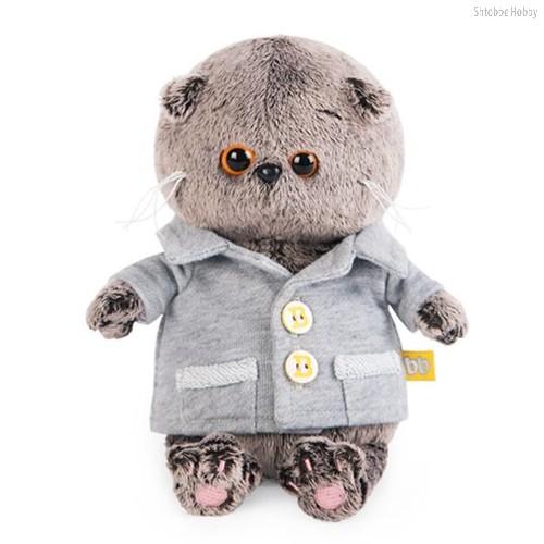 Мягкая игрушка BUDI BASA BB-021 Басик BABY в сером пиджачке 20 см - Буди Баса