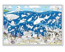 Раскраска-плакат ГЕОДОМ 3323 Подводный мир, большая - Геодом