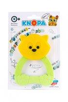 Прорезыватель KNOPA 80055 Кошечка, желто-зеленая