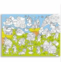 Раскраска-плакат ГЕОДОМ 6652 Единороги, для малышей