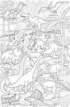 Раскраска-плакат GLOBEN PA075 Парк динозавров 120х80см - Globen