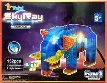 Светодиодный конструктор В мире животных 6 в 1 - Sky Ray